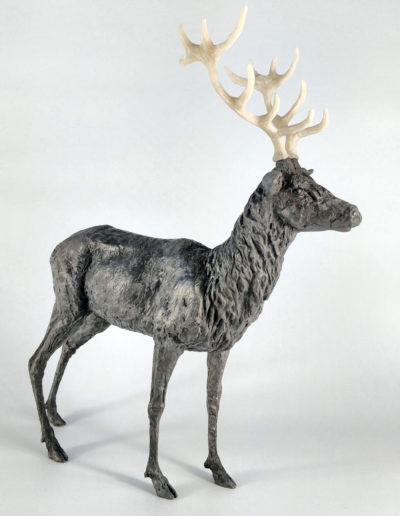 Stag - Iron Resin with Resin Antlers, Frances Clark, 2018 (Limited Edition 10/10)