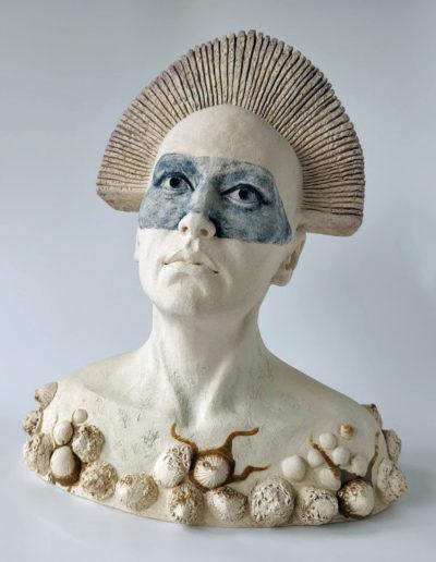 Mixed media sculpture, ceramic, stoneware
