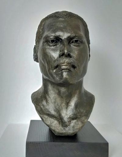 Freddie Mercury sculpture, ceramic, Frances Clark